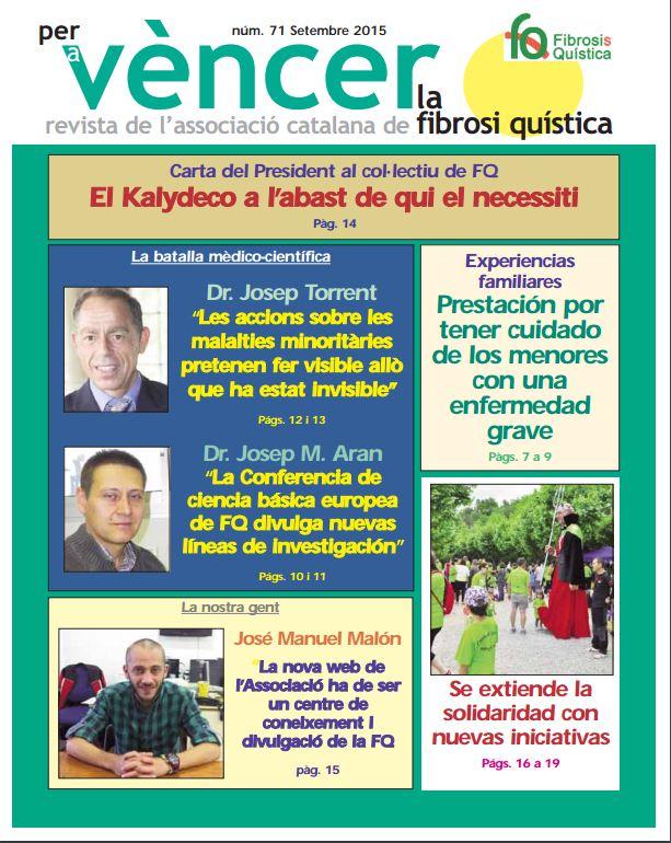 Revista Per a vèncer la Fibrosi Quística n71
