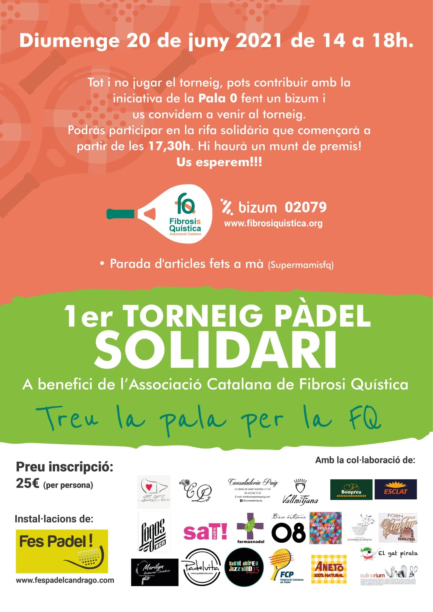 1er Torneig De Pàdel Solidari A Benefici De L'ACFQ